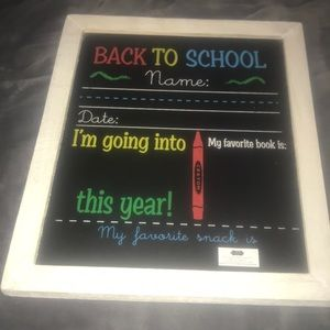 Mud Pie  Birthday and School chalkboard sign New